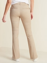 Mid-Rise Boot-Cut Khakis for Women