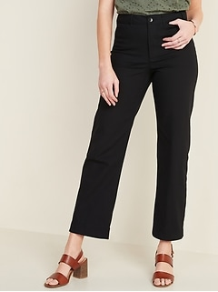 High-Waisted Slim Wide-Leg Chinos for Women