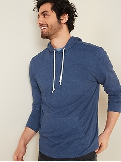 Soft-Washed Pullover Tee Hoodie for Men