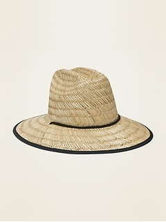 Straw Lifeguard Hat for Men