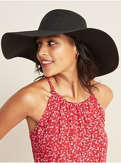 Braided Wide-Brim Sun Hat for Women