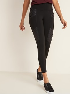 High-Waisted Moto 7/8-Length Street Leggings For Women