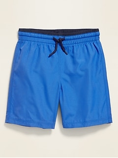 Functional Drawstring Swim Trunks for Toddler Boys