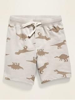 Functional Drawstring Jersey Shorts for Toddler Boys