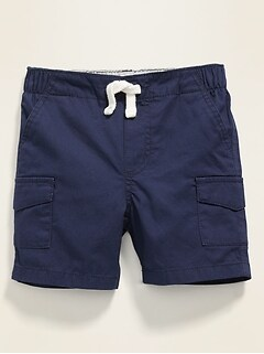Twill Pull-On Cargo Shorts for Baby