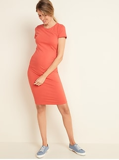 Maternity Jersey Bodycon Dress