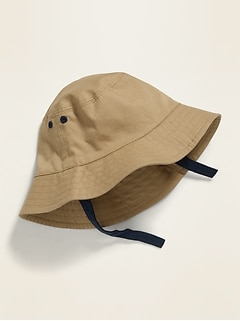 Canvas Bucket Swim Hat for Baby
