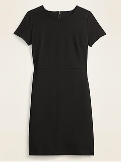 Ponte-Knit Knee-Length Sheath Dress for Women