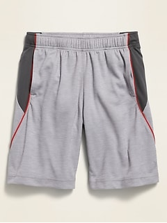 Go-Dry Color-Blocked Mesh Shorts for Boys
