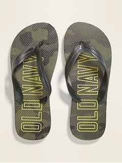 Printed Logo-Graphic Flip-Flops for Boys