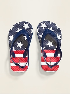 Americana-Print Flip-Flops for Toddler