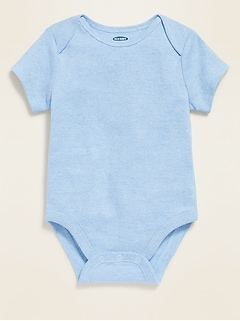 Unisex Short-Sleeve Jersey Bodysuit for Baby