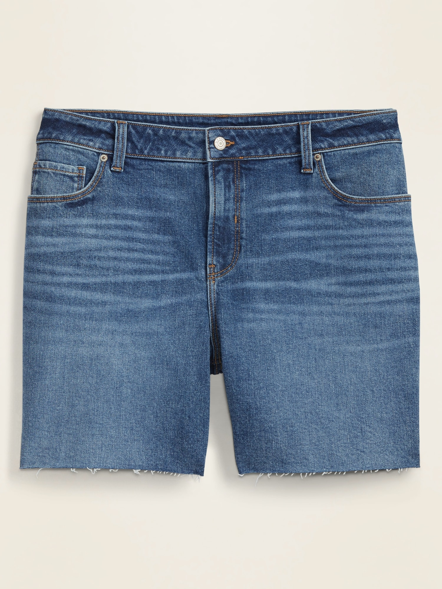 Old Navy Mid-Rise Plus-Size Cut-Off Jean Shorts -- 7-inch inseam