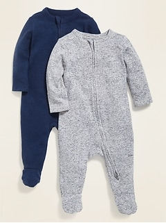 Unisex Cozy Footed One-Piece 2-Pack for Baby