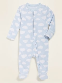 Unisex Micro Fleece Footie Pajama One-Piece for Baby