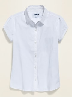 Uniform Short-Sleeve Shirt for Girls