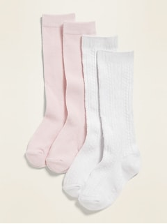 Knee-High Uniform Socks 2-Pack for Toddler Girls