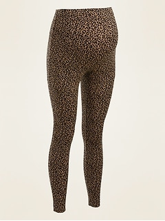 Maternity Full-Panel Leopard-Print Leggings