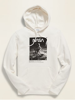 NASA® Lunar Landing Graphic Gender-Neutral Pullover Hoodie for Men & Women