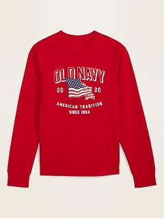 2020 U.S. Flag Graphic Gender-Neutral Sweatshirt for Men & Women