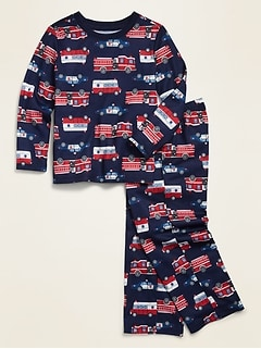 Loose-Fit Graphic Pajama Set for Toddler Boys & Baby