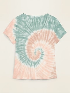 EveryWear Tie-Dyed V-Neck Tee for Women
