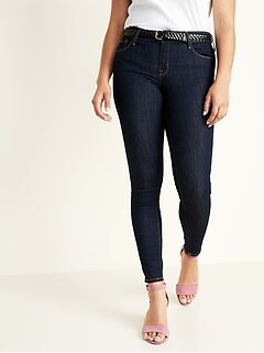 Low-Rise Rockstar Dark-Wash Super Skinny Jeans for Women
