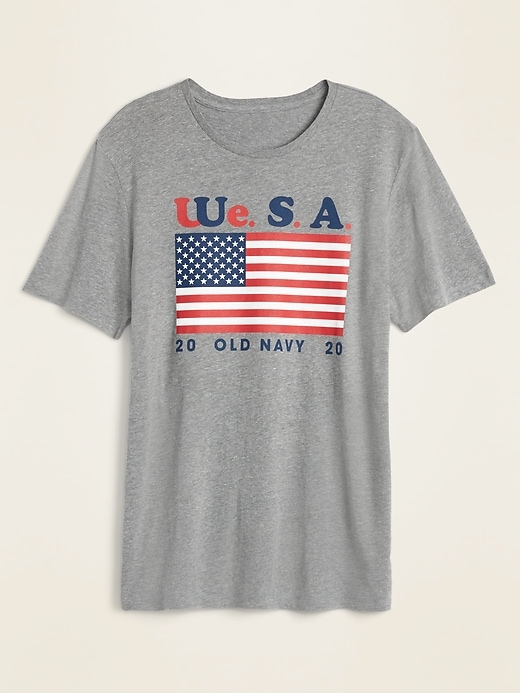 "OLD NAVY 2020 ""We.S.A."" American Flag Tee for Adults"