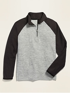 Ultra-Soft Breathe ON 1/4-Zip Performance Top for Boys