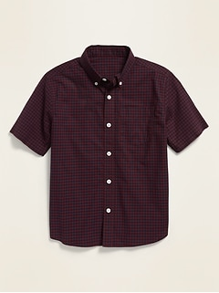 Plaid Built-In Flex Short-Sleeve Shirt for Boys