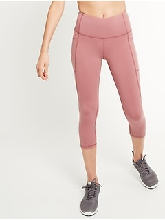 High-Waisted Elevate Side-Pocket Compression Crops for Women