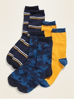 Crew Socks 3-Pack for Boys