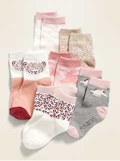 Critter Socks 6-Pack for Toddler & Baby