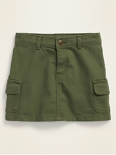 Cargo-Pocket Skirt for Toddler Girls