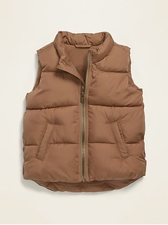 Unisex Frost-Free Quilted Puffer Vest for Toddler