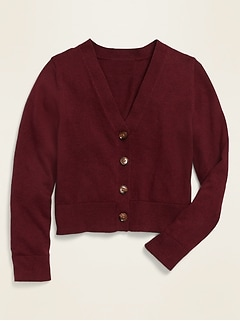 Uniform V-Neck Cardigan for Girls
