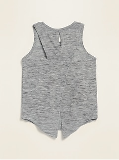 Breathe ON Sleeveless Split-Back Top for Toddler Girls
