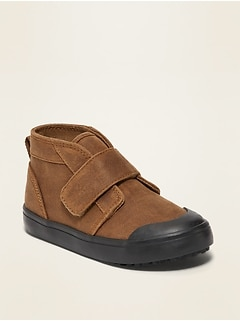 Faux-Suede Mid-Top Chukka Sneakers for Toddler Boys