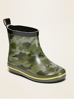 Camo-Print Rainboots for Toddler Boys