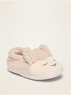 Unisex Critter Slippers for Toddler & Baby