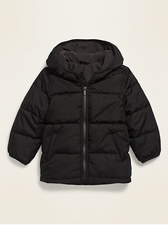 Unisex Frost-Free Hooded Puffer Jacket for Toddler