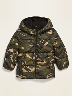 Unisex Camo-Print Frost-Free Jacket for Toddler