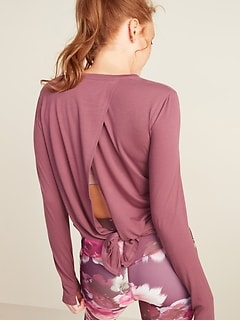 UltraLite Tie-Back Long-Sleeve Performance Top for Women