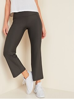 High-Waisted Elevate Powersoft Side-Pocket 7/8-Length Flare Leggings for Women