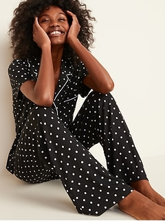 Jersey Pajama Set for Women