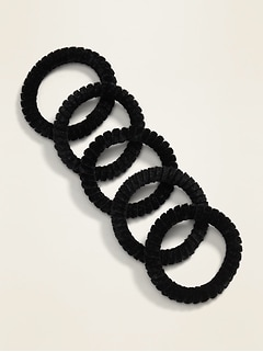 Skinny Spiral Hair Ties 5-Pack for Women