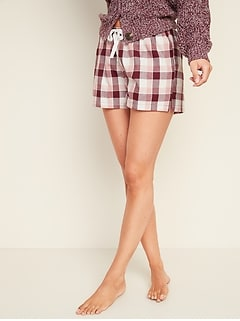 Printed Poplin Pajama Shorts for Women