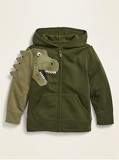 Unisex Dino-Critter Zip Hoodie for Toddler