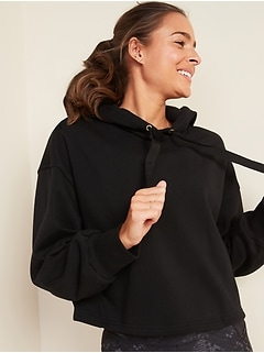 Loose Cropped Pullover Hoodie for Women