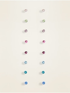 Stud Earrings 8-Pack Set for Women